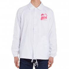 Obey Youth Coaches Jacket - White