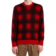Obey Backside Sweater - Red Multi