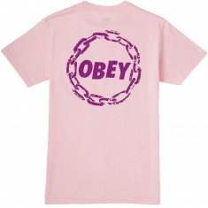 Obey Jumble Chain T-Shirt - Pink