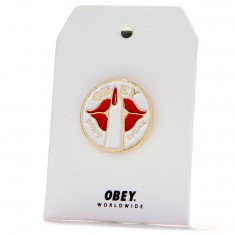 Obey Don't Speak Pin - Red