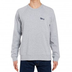 Obey Lofty Chain Stitch Crew Sweatshirt - Athletic Heather Grey