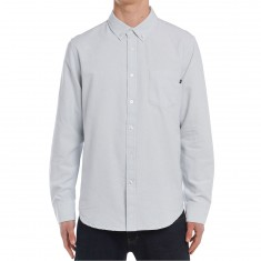 Obey Dissent II Woven Long Sleeve Shirt - Light Grey