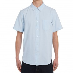Obey Dissent II Woven Short Sleeve Shirt - Light Blue