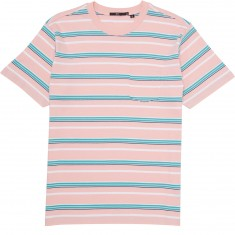 Obey Belford Stripe Box Pocket T-Shirt - Pink Multi