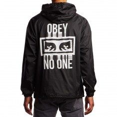 Obey No One Hooded Coaches Jacket - Black