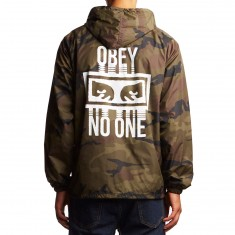 Obey No One Hooded Coaches Jacket - Camo