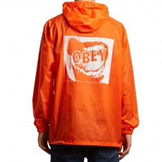 Obey Screamer Hooded Anorak Jacket - Orange