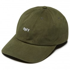 Obey Jumble Bar III 6 Panel Hat - Army