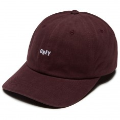 Obey Jumble Bar III 6 Panel Hat - Eggplant