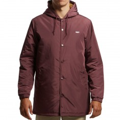 Obey Singford Stadium II Jacket - Eggplant
