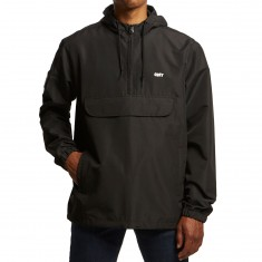 Obey Crosstown Anorak Jacket - Black