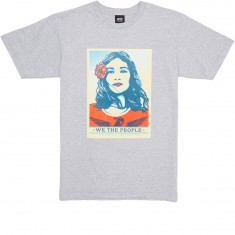 Obey Defend Dignity T-Shirt - Heather Grey