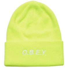 Obey Alert Beanie - Bright Green