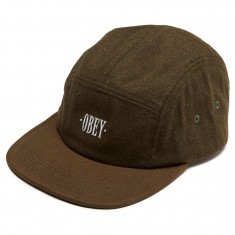 Obey Reprise 5 Panel Hat - Army