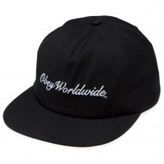 Obey Vista Snapback Hat - Black