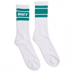 Obey Cooper II Socks - White/Teal