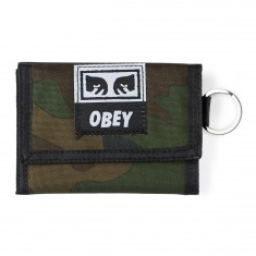 Obey Drop Out Tri Fold Wallet - Field Camo