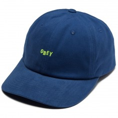 Obey Cutty 6 Panel Snapback Hat - Dusty Blue