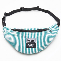 Obey Wasted Hip Bag - Teal/White
