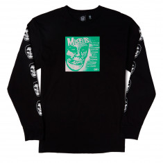 Obey X Misfits 7in Cover Long Sleeve T-Shirt - Black