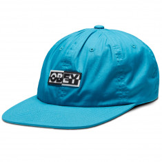 74e59446beee7 Obey Fractured 6 Panel Strapback Hat - Pure Teal