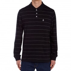 Volcom Casper Polo Long Sleeve Shirt - Black