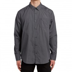 Volcom Everett Solid Long Sleeve Shirt - Asphalt Black