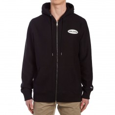 Volcom Comply Zip Pullover Hoodie - Black