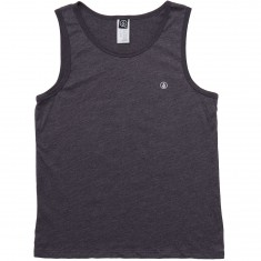 Volcom Solid Heather Tank Top - Heather Black