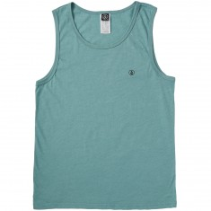 Volcom Solid Heather Tank Top - Sea Blue Heather