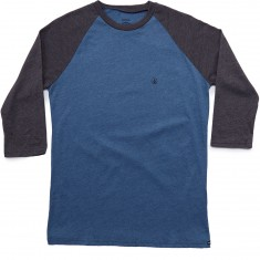 Volcom Solid Heather 3/4 Raglan Shirt - Smokey Blue