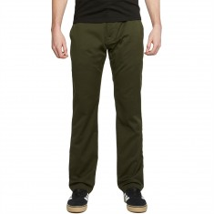 Volcom Frickin Modern Stretch Pants - Dark Green