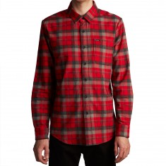 Volcom Caden Longsleeve Shirt - Deep Red