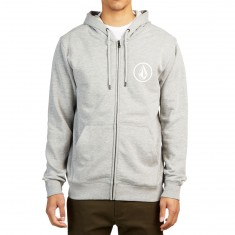 Volcom Stone Zip Up Hoodie - Heather Grey