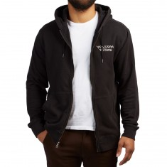 Volcom Reload Zip Up Hoodie - Washed Out Burgundy