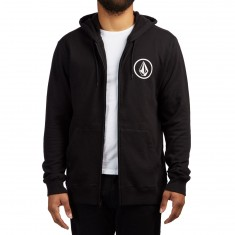 Volcom Stone Zip Up Hoodie - New Black