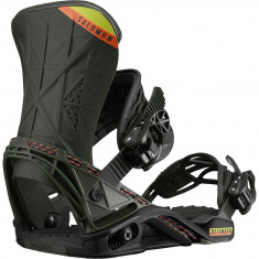 Salomon Defender 2019 Snowboard Bindings - Black/Olive