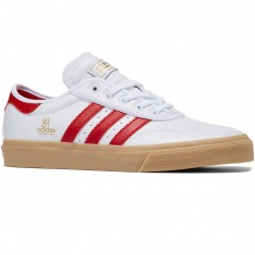 Adidas Adi-Ease Premiere Universal Shoes - White/Scarlet/Gold Metallic