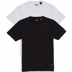 Levis 2 Pack T-Shirt - White/Jet Black