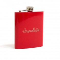 Chocolate Red Square Flask - Red