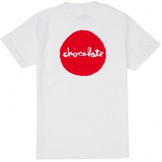Chocolate Red Dot Pocket T-Shirt - White