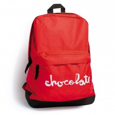 Chocolate Chunk Simple Backpack - Red