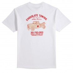 Chocolate Towing Standard T-Shirt - White