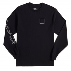 Chocolate Line Chunk And Square Long Sleeve T-Shirt - Black