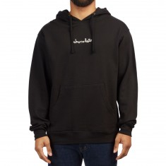 Chocolate Embroidered Mid Chunk Hoodie - Black