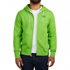 Girl Yeah Right Zip-Up Hoodie - Lime Green
