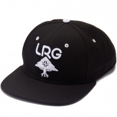 LRG Research Group Snapback Hat - Black/White