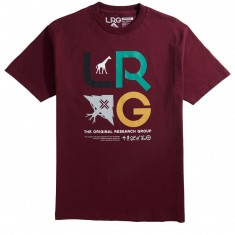 LRG Research Icons T-Shirt - Burgundy