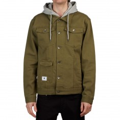 LRG RC Hooded Denim Jacket - Burnt Olive