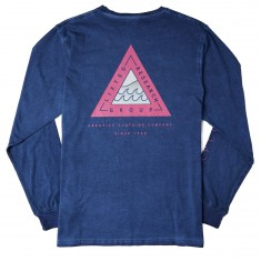 LRG Wavy Longsleeve T-Shirt - Patriot Blue